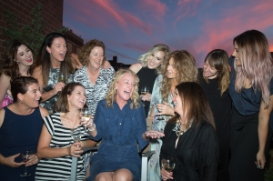 Celebrating with my fabulous friends after the NYFW show. Bubbles and sunset on a rooftop in New York.